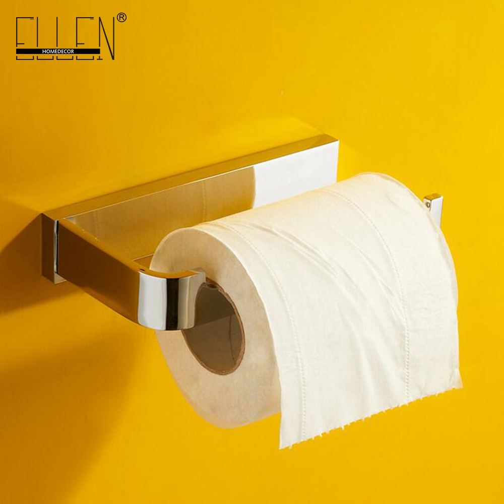 Solid Brass Toilet Paper Holder Chrome Finished Bathroom Accessories Porta Papel Higienico 89286<br>