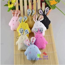8Pcs Kawaii 10CM Pearl Rabbit 8 Colors Plush TOY DOLL Phone Strap Keychain Small Pendant DOLL Stuffed TOY Wedding Gift