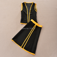 Fairy Tail mage Naz  Dora Gonul Cosplay Costumes Clothing Uniforms  Sleeveless Suit  Clothes in stock