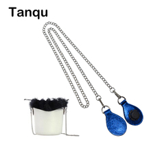TANQU Bucket Silvery Shoulder Chain Strap with 7 Colors Shiny PU Drop Attachment for Obag O basket Strap Chain for O Bag Obasket