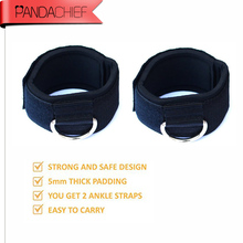 Belt Multi Thigh Leg Pulley Strap Lifting Fitness Gym equipment D-ring Ankle Anchor Strap Exercise Training Equipment 1pair