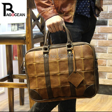 New Popular High Quality Pu Leather Business Bag For Men  Messenger Shoulder Bags Large Crossbody Bags Laptop Handbag Briefcase