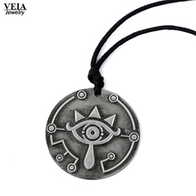Buy 2017 New Legend Zelda choker necklace rope chain vintage Pendant Keychain Breath Wild Big eyes logo charms Necklaces for $2.17 in AliExpress store