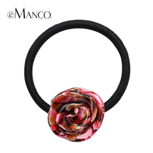 Elastic acrylic flower hair band colorful acetate headbands girls new cute flower head bands hair accessories tiara eManco(China)