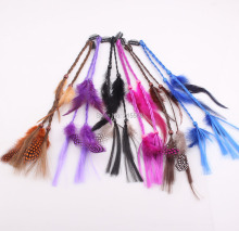 New Fashion Lady Feather Hair Clip hair pin fascinator Costume Accessory wig Feather Hair extension JJAL ZH115(China)