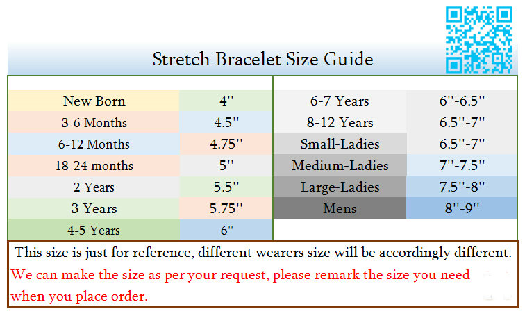 Stretch Bracelet Size Guide