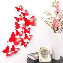 Apr 29 Wall Stickers Decal Butterflies 3D Wall Art Home Decors 421(China)