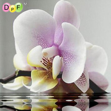 5D The water orchids DIY Diamond Painting Cross Stitch Crystal Square Diamond Sets Needlework  Full Diamond Embroidery Painting