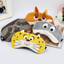 Bunny/Tiger/Fox/Sloth Sleeping Eye Mask Cover Eyeshade Hot/Cold Mask Travel Sleep Rest Aid Soothing Relief Blindfold Eyes Patch(China)