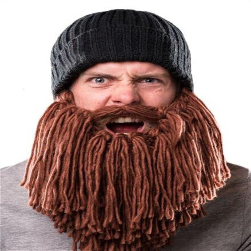 2017 Novelty Knitted Autumn Winter Men Caps Viking Beanies Beard Hats Funny Cool Hat For Party Halloween Festival Birthday Gift Îäåæäà è àêñåññóàðû<br><br><br>Aliexpress