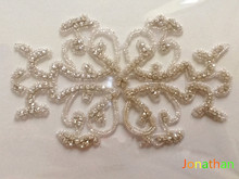 Free shipping,Rhinestone applique,couture crystal applique,wedding applique,beaded patch for wedding sash,bridal accessory
