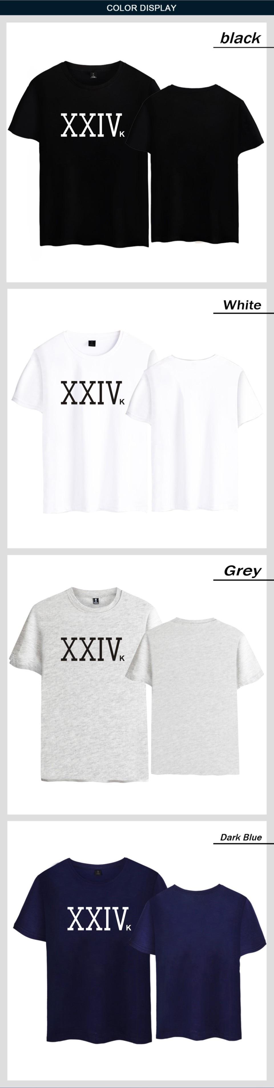 Singer-SongWriter Bruno Mars XXIVK Magic Bruno Mars T-shirt Pop Summer Bruno Mars 24K Magic T shirt XXIVK Short Sleeve Tees