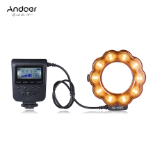 Andoer SL-102C GN15 Macro LED Ring Flash Fill-in Light Lamp Brightness Adjustable LCD Display for Canon Nikon Pentax Olympus