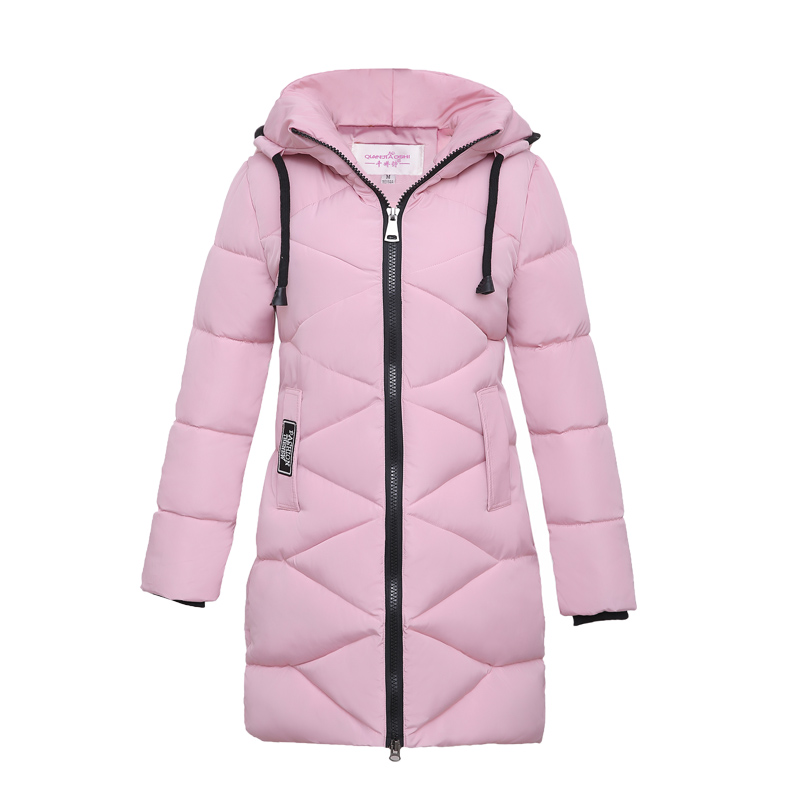 New Winter Plus Size Padded Parkas Casaco Inverno 2017 Women Slim Hooded Long Sleeve Plaid Solid Casual Coats And Jackets FemmeÎäåæäà è àêñåññóàðû<br><br>