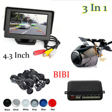 Buy Koorinwoo Waterproof Car Rear View Camera + Parking Sensor Reverse Radar System + Auto Monitor DVD 12v Parking Assistance for $44.56 in AliExpress store