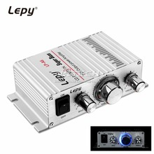 Lepy LP-A6 Mini 2 Ch Hi-Fi Stereo Audio Car Home Output Power Amplifier for Mobile phone MP3 MP4 PC Supports Volume Control(China)