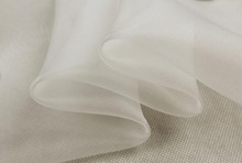 "100% pure silk organza fabric 5.5m/m 23gsm 55"" 140cm natural white natural for wedding dress or DIY handmade"