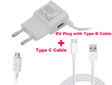2A EU US Micro USB Mobile Phone Wall Charger+Type C USB Data Cable For  Xiaomi Mix Evo,Oppo Find 9,ZTE Hawkeye,Project CSX