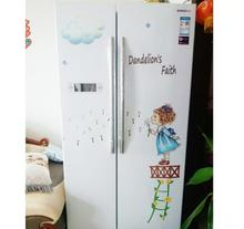 Dandelion Girl Wall Stickers for Kids Rooms Decor Bedroom Art Decals DIY PVC Sticker refrigerator Home Decoration
