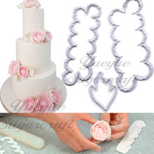 Yueyue sugarcraft Easy Peony Flower and Leaf Plastic Cake Tools Cutter(China)