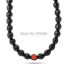 hot sale ball chain necklace wholesale male handmade shamballa necklace jewelries