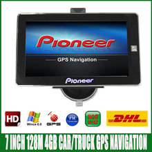 Free DHL shipping 7 inch HD Car truck GPS Navigation FM 4GB/128M DDR/800MHZ Newest Map for Russia/Spainish/ Europe/USA navigator(China)