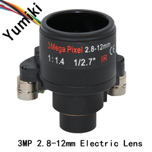"3.0Megapixel Motorized Varifocal 2.8-12mm CCTV Lens 1/2.7"" For HD Security Cameras, Auto Iris, DC Zoom & Focus, F1.4 D14 Mount"