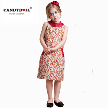 CANDYDOLL Girls Dresses Kids cotton formal dress brand children cheongsam england style robe for party high quality