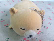 Super Cute 12CM Approx. Little Bear Plush Stuffed Toy Key Chain DOLL ;  Plush TOY , Wedding Bouquet Gift Plush DOLL