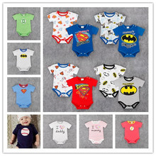 Multi Colors Baby summer clothes Superman batman Love Daddy letter Toddler infant kids jumpsuits baby rompers overalls