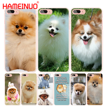 HAMEINUO cute dogs perro pomeranian puppy cell phone Cover case for iphone 6 4 4s 5 5s SE 5c 6 6s 7 8 X plus(China)