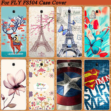 Brilliant SOFT TPU Cover For FLY FS504 Cirrus 2 Popular Case Lovely 8 Colored Patterns 3D diy Painting FOR Fly fs504 Case Cover