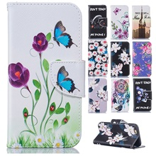 Cartoon Butterfly Flip Leather Case Coque for Microsoft Nokia Lumia 650 N650 Cover Wallet Silicon Back Cover Mobile Phone Cases