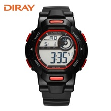 DIRAY multi-functional electronic watch luminous waterproof outdoor sports watch Running South Korea trend of students's tide