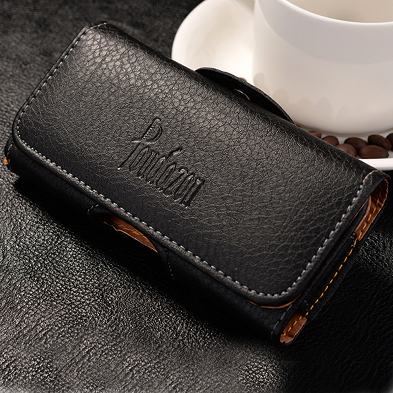 New Top grade Universal Holster Skin Waist hanging Belt Clip Leather Pouch Cover Case For Motorola RAZR D3 XT919 XT920(China)