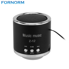 FORNORM Z12 Mini Digital Speakers Portable Rechargeable Audio FM Support SD Card for PC Music MP3 Player USB Micro Radio Music(China)