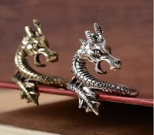 Retro exaggerated personality all-match Chinese Dragon Ring M1307
