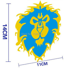 14x11 COOL Lion auto Sticker Decals Blue yellow high quality waterproof funny lion car sticker for mini toyota chevrolet cruze