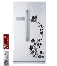 vine flower wall stickers refrigerator decorations 8308. diy home decals vinyl art room mural posters adesivos de paredes 4.5(China)