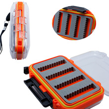 Double Side Waterproof Plastic Foam Fly Fishing Bait Lure Hook Storage Case Box