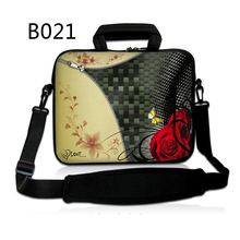 Zip Rose 11.6 12 Laptop Shoulder Bag For Macbook Air 11 Surface Pro 3 Computer Neoprene Bag For 7 10 12 13 15 17 inch Mini PC