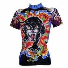 ILPALADINO Women Cycling Jersey Pro MTB Mountain Bike Leopard Pattern Style Tops Outdoor Cycling Clothing Bicycle Sportswear
