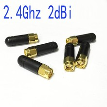 5pcs /lot 2.4Ghz antenna SMA male 2dbi Omni-Directional rubber Zigbee small antenna short 3cm #2