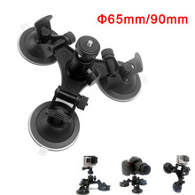 Super Tri-Cup Camera Suction Mount DSLR Action Cam Camcorder Car Wall Mount Holder for GoPro Hero 5/4/3+/3/ SJCAM SJ4000 CX88