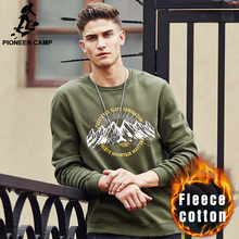 Pioneer Camp 2017 New Men Spring autumn hoodies men fleece Pullovers Crew Neck male Casual Sweatshirt  brand clothing 677084