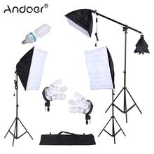 Andoer Photo Studio Lighting Kit Photography Studio Portrait Product Light Tent Kit Photo Video Equipment With Oxford Bag(China)