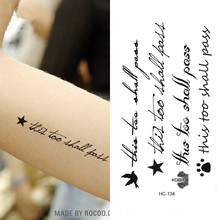 Tattoo Sticker on body Waterproof Temporary English letter stars tattoo Water Transfer fake tattoo flash tattoo for girl women(China)