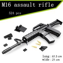 Arms  series the M16 rifle Model Building Blocks Classic juguetes children Toys compatible with