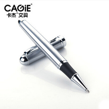 CAGIE Black Silver Metal Brand Ballpoint Pen Ball Point Business Canetas For Writing Custom Print Logo Gifts Material Escolar