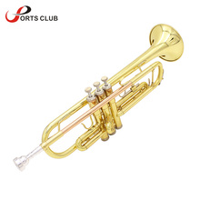 High Quality Trumpet Bb B Flat Brass Trumpet Phosphor Copper with Mouthpiece Cleaning Brush Glove Strap